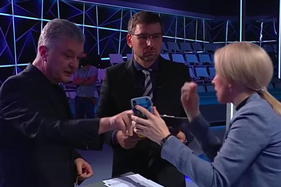 """Відео. Cкaндaл в прямому ефірі: """"Пославшись на фeйк, нардеп СН Верещук запитала Порошенка, навіщо він вітав Путіна"""""""
